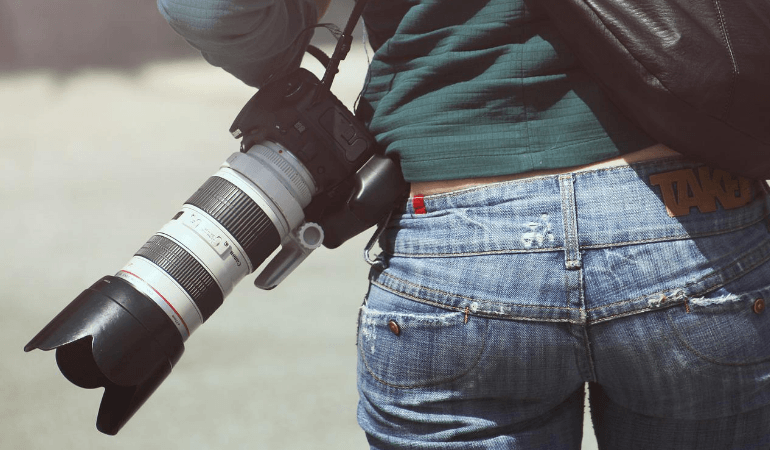 camera with lens